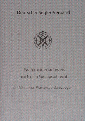"""Fachkundenachweis """"Pyroschein"""""""